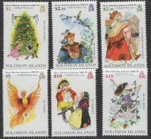 SOLOMON ISLANDS SG1153/8 2005 CHRISTMAS MNH