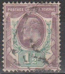 Great Britain #129 F-VF  Used  CV $22.50  (S8033)