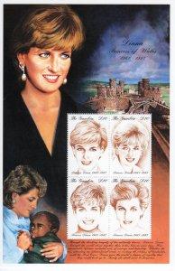 Gambia 1997 Sc#2014 Diana,Princess of Wales Sheetlet (4) MNH