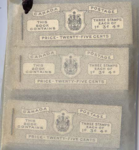 Canada - 1943 War Issue English Booklets X 15 #BK38a