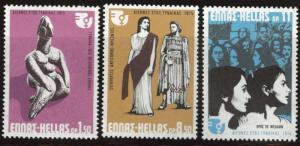 GREECE Scott 1147-1149  MNH** 1975  womens year set