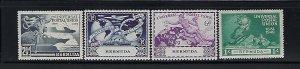 BERMUDA SCOTT #138-141 1949 UPU ISSUE-  MINT LIGHT  HINGED