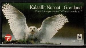 Greenland Scott 345a-7a Mint NH booklet (Catalog Value $25.00)