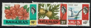 Bahamas SC# 398, 399 and 401, Used, see notes - Lot 021217