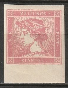 Austria 1866 Sc P3 newspaper reprint MNH**