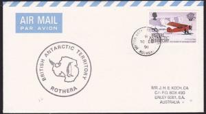 BR ANTARCTIC TERRITORY 1991 cover ex ROTHERA................................8547