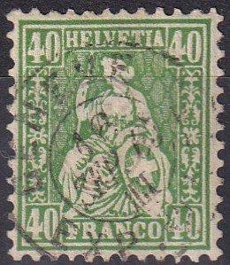 Switzerland #47 F-VF  Used CV $65.00  (S10046)