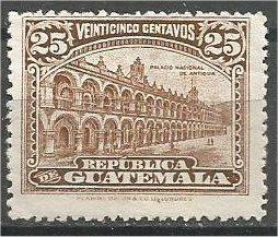 GUATEMALA, 1922, MNH 25c, National Palace Scott 203