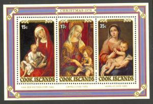 COOK ISLANDS 1978 CHRISTMAS PAINTINGS Souvenir Sheet Sc 505a MNH