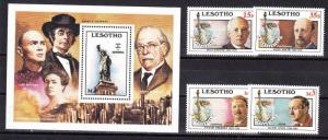 Lesotho Scott 535-539 Mint NH (Catalog Value $18.00)