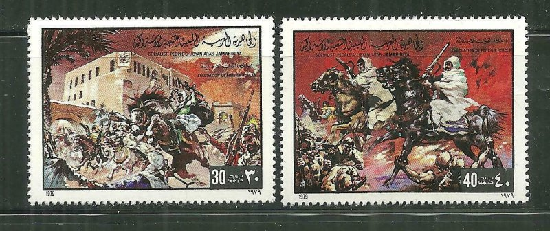 Libya MNH 837-8 Evacuating Foreign Forces Military