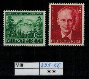 Deutschland Reich TR02 DR Mi 855-56 1939 Reich Postfrisch ** MNH