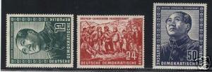 Germany DDR #84 - #86 VF/NH Set