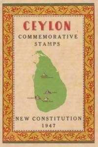 ceylon 1947 new constitution  illustrated  mint  stamps folder ref r15269