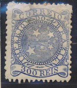 Brazil Stamp Scott #94, Mint, Original Gum, Toned Spots - Free U.S. Shipping,...
