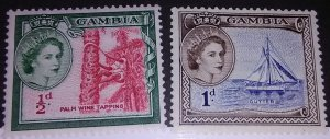 Presenting Gambia 153-4 mint