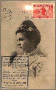 90053 - HAVANA - Postal History -  MAXIMUM CARD 1951  CLARA LOUISE MASS Medicine