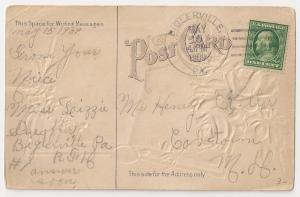 Biglerville Pennsylvania four bar cancel on ppc 1909