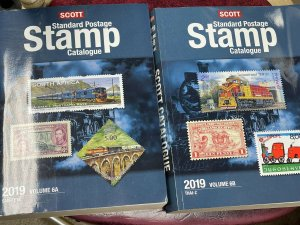 2019 SCOTT STAMP CATALOGS VOL 1A/B THROUGH VOL 6A/B