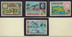 Cook Islands Stamps Scott #195 To 198, Mint Hinged, No Gum - Free U.S. Shippi...