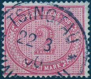 Germany 1900 TSINGTAU Kiautschou China 2RM Vorlaufer Mi V37f Forerunner 85623