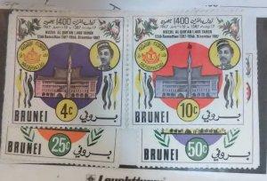 Brunei Scott #131-4 nh (1966)