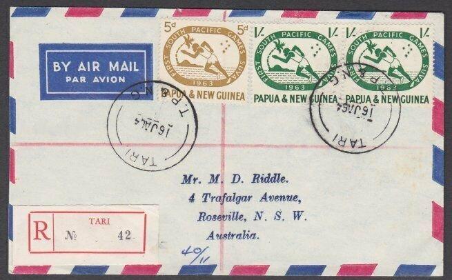 PAPUA NEW GUINEA 1964 Registered cover ex TARI..............................M371