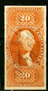 US Stamps # R98A 20c Revenue Scott Value $175.00