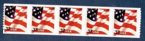 3632 Flag PNC Strip Of 5 Dated 2002 Mint/nh FREE SHIPPING