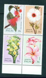 Palau US Trust Territory Scott 59-62 MNH** Block of 4 flo...