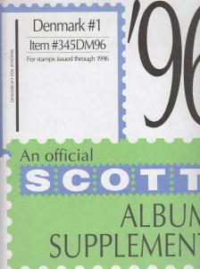 Scott Album Supplement Denmark #1 Through 1996