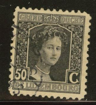 Luxembourg Scott 106 Used from 1914-17 set