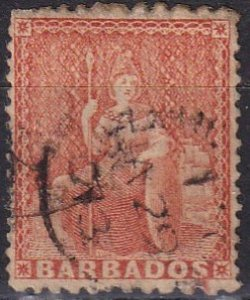 Barbados #37 F-VF Used CV $125.00 (Z2452)