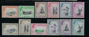 SWAZILAND SCOTT #55-66 1956 QEII PICTORIALS  - MINT NEVER HINGED