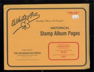 2007 White Ace U.S Commemorative Issue Plate Block Stamp Supplement Pages PB-59