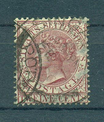 Straits Settlements sc# 52 used cat value $12.00
