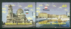 276 - MACEDONIA 2018- Macedonia in the European Union - Sofia - Vienna - MNH Set