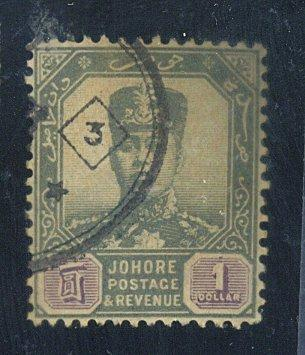Malaya-Johore #68 Used F-VF Cat$72.50