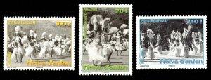 French Polynesia Scott 1001-1003 Mint never hinged.
