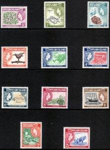 1957 Pitcairn QE portrait type complete set MNH Sc# 20 / 30 CV $52.30