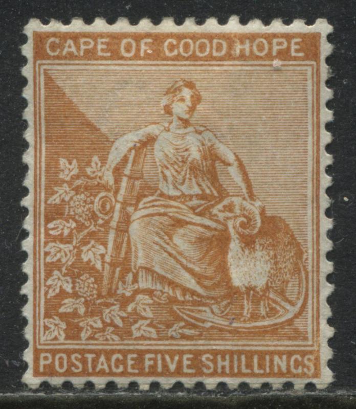 Cape of Good Hope 1887 5/ orange mint o.g.