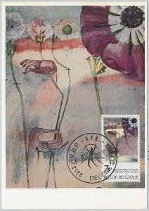 63463 -  BELGIUM - POSTAL HISTORY: MAXIMUM CARD 1975 -  ART flowers