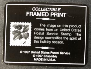 Framed Print of Scott #3177  American Holly w/ Original Box
