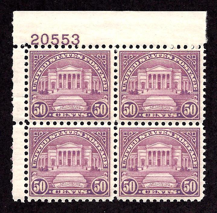 701 Mint,OG,NH...  Plate Block of 4... SCV $230.00