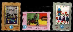 IRAN Scott 1678-1680 MNH** 1972  Childrens Art set