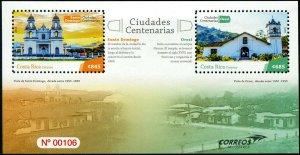 HERRICKSTAMP NEW ISSUES COSTA RICA Cathedrals Souvenir Sheet