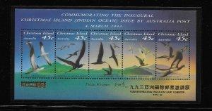 BIRD - CHRISTMAS ISLAND #349g TAIPEI OVERPRINT   MNH