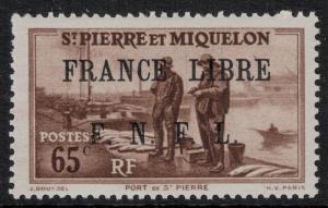St. Pierre 1942 SC 235 Set NH -  France Libre