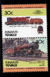Funafuti-TUVALU Scott 9 MNH** Train pair