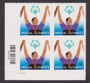 3771 Special Olympics MNH Plate Block V111111 LL